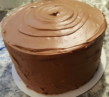 3 Layer Yellow Cake w/Whipped Chocolate Frosting